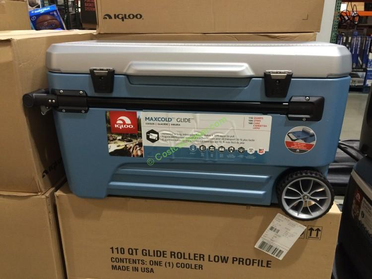 71ea5bca225 Costco 1013655 Igloo 110qt Rolling Cooler With Removable