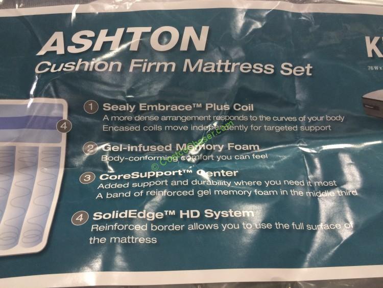 Costco 1020163 Sealy Posturepedic Ashton King Mattress Set Spec2 Costcochaser
