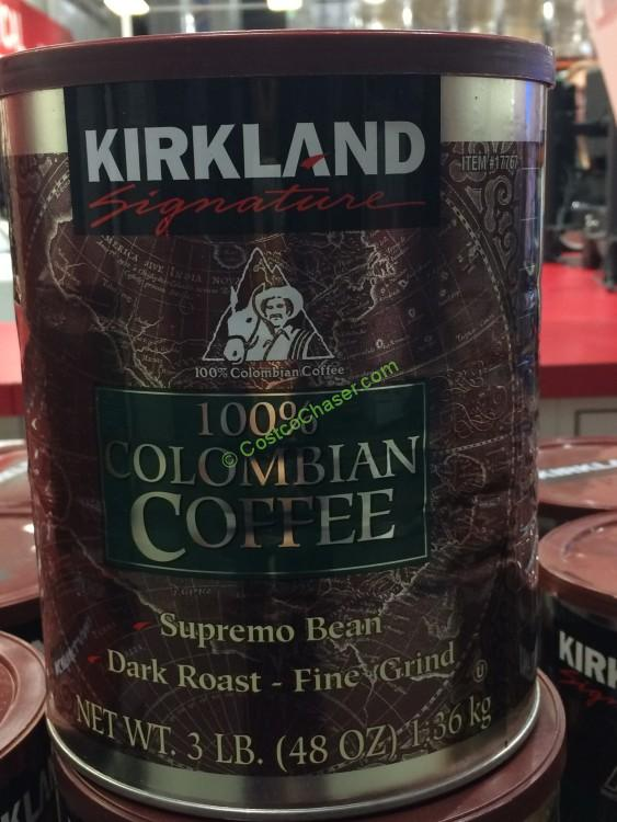 Costco 17767 Kirkland Signature 100 Colombian Coffee