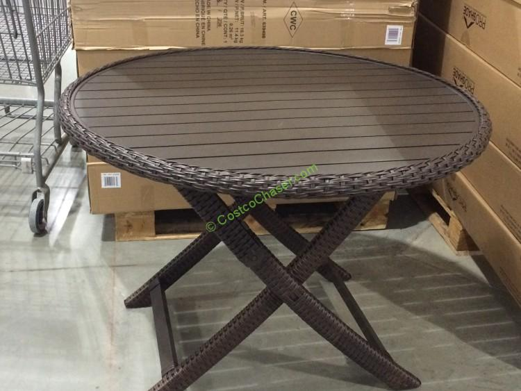Folding Woven Table Costcochaser
