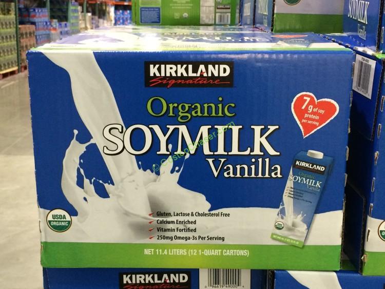 Kirkland Signature Organic Vanilla Soy Milk 12/32 oz  Ounce