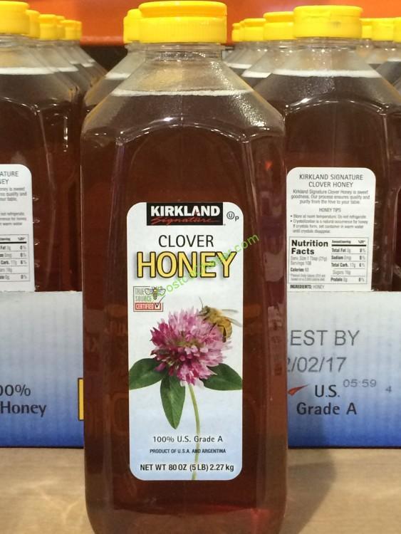 Kirkland Signature Pure Clover Honey 5 Pound Container