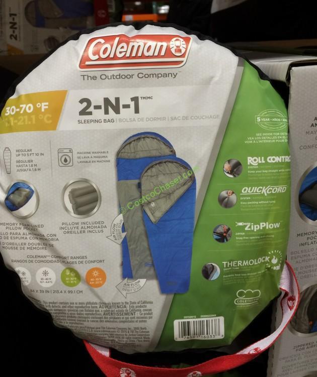 Costcochaser: Coleman Hybrid 2 In 1 Sleeping Bag