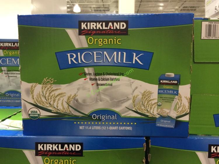 Kirkland Signature Organic Rice Milk, 12/32oz Box – CostcoChaser