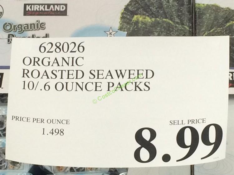 Kirkland Signature Organic Roasted Seaweed 10 6 Ounce
