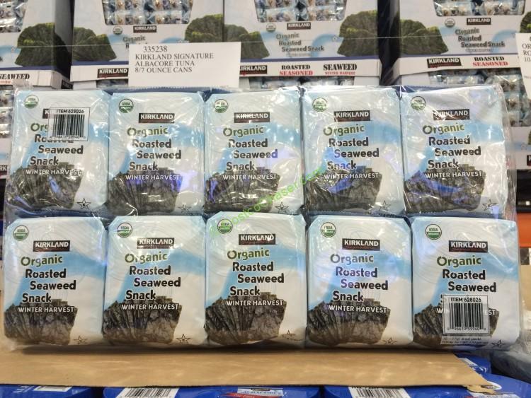 Kirkland Signature Organic Roasted Seaweed 10/.6 Ounce Packs