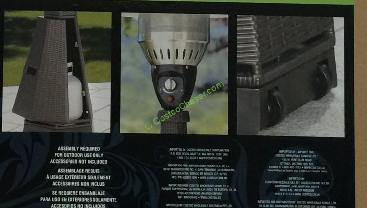 Hexagon Patio Heater Resin Wicker LP CostcoChaser