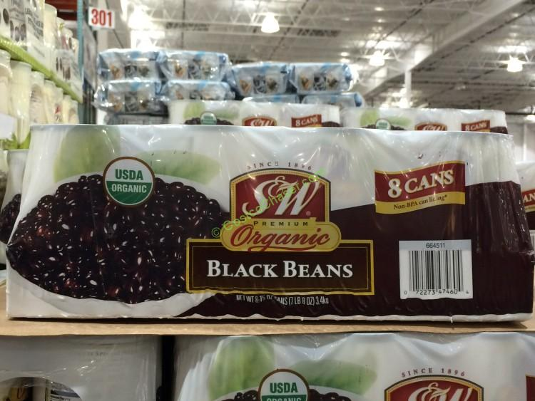 Organic S & W Black Beans 8/15 Ounce Cans