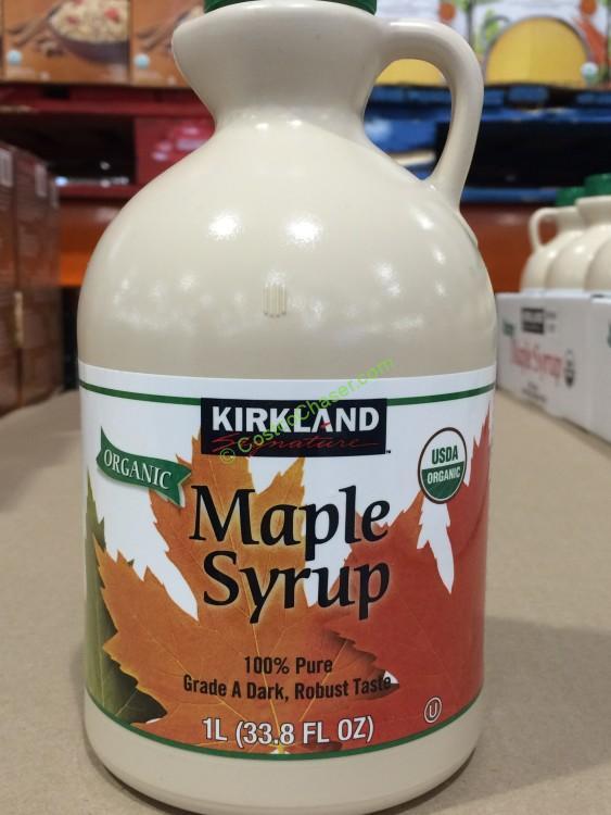 Kirkland Signature Organic Maple Syrup 1 Liter Bottle
