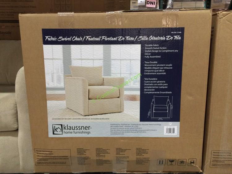 Klaussner Fabric Swivel Chair