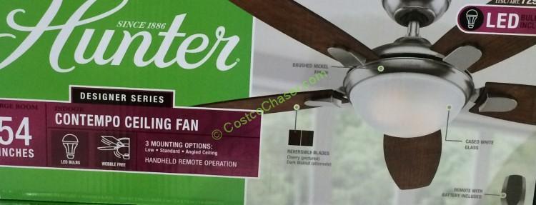 Costco 729655 Hunter Fan Company 54 Celling Spec