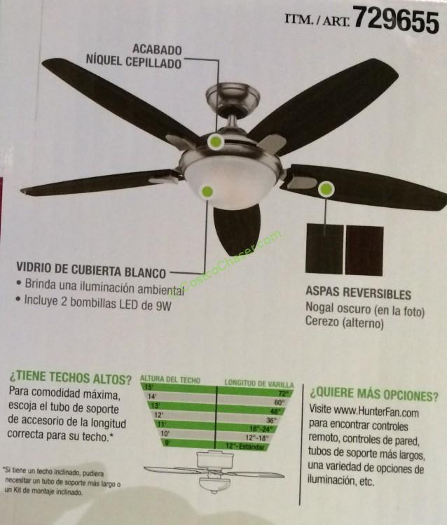 hunter fan company 54 ceiling fan costcochaser
