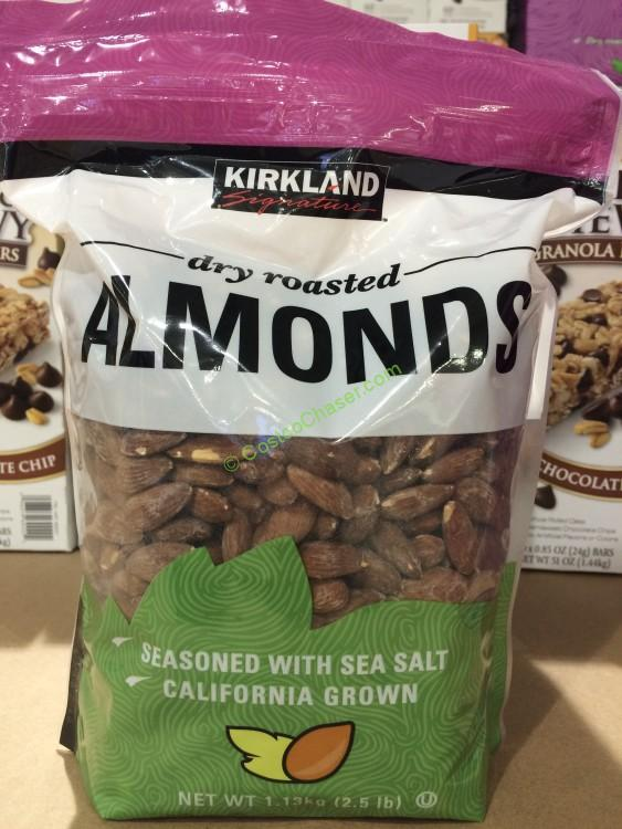 Kirkland Signature Dry Roasted Almonds 2.5 Pound Pouch