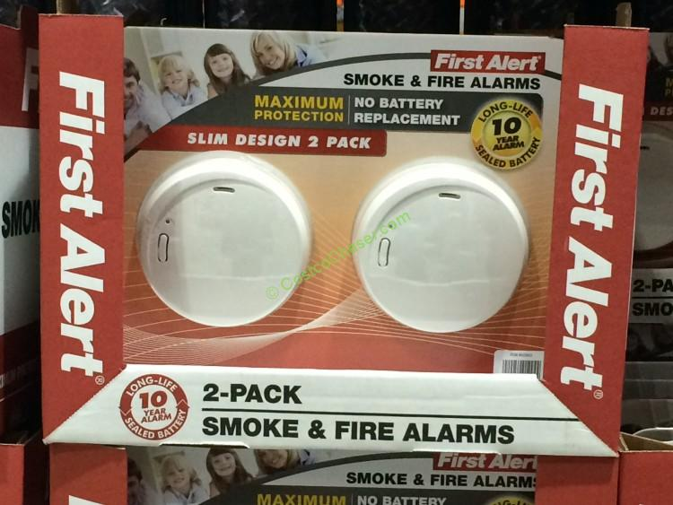 First Alert Photoelectric Fire and Smoke Alarm CostcoChaser