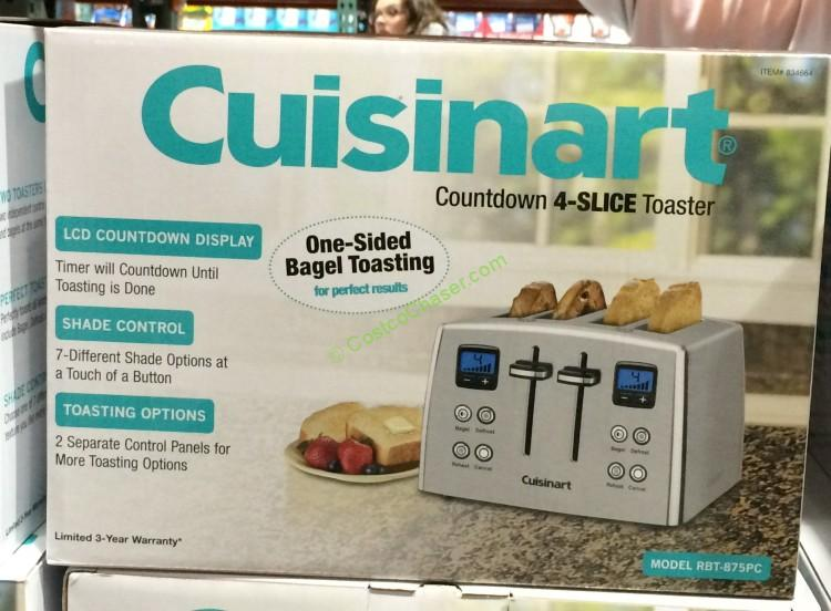 Cuisinart RBT-875PC Countdown 4-Slice Stainless Steel Toaster