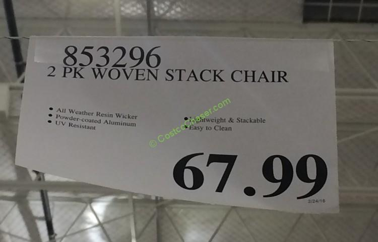 Woven Stack Chair 2 Pk Costcochaser