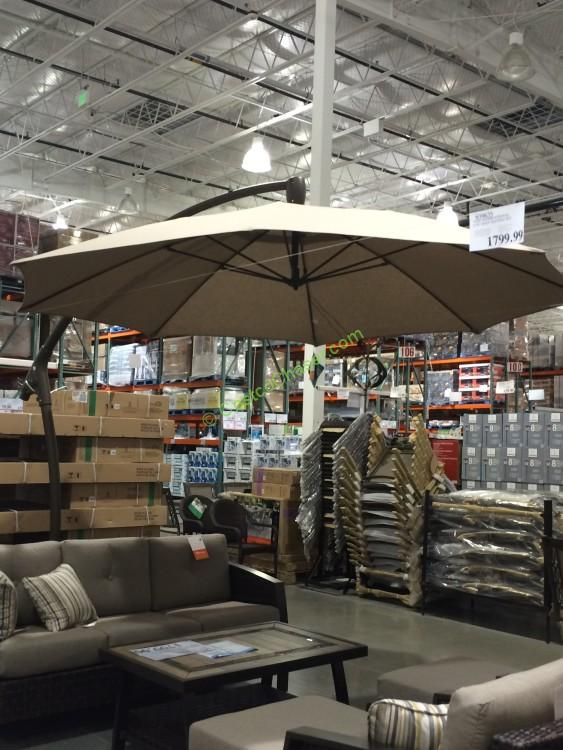 Costco 853331 11 Cantilever Patio Umbrella With Base