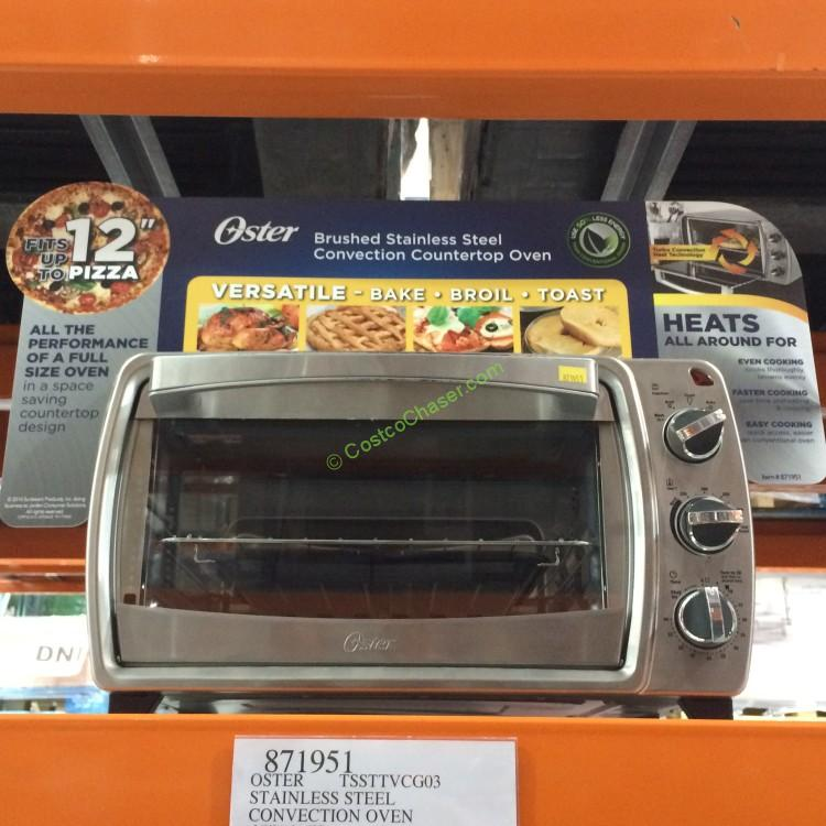 Oster 6 Slice Stainless Steel Convection Countertop Oven