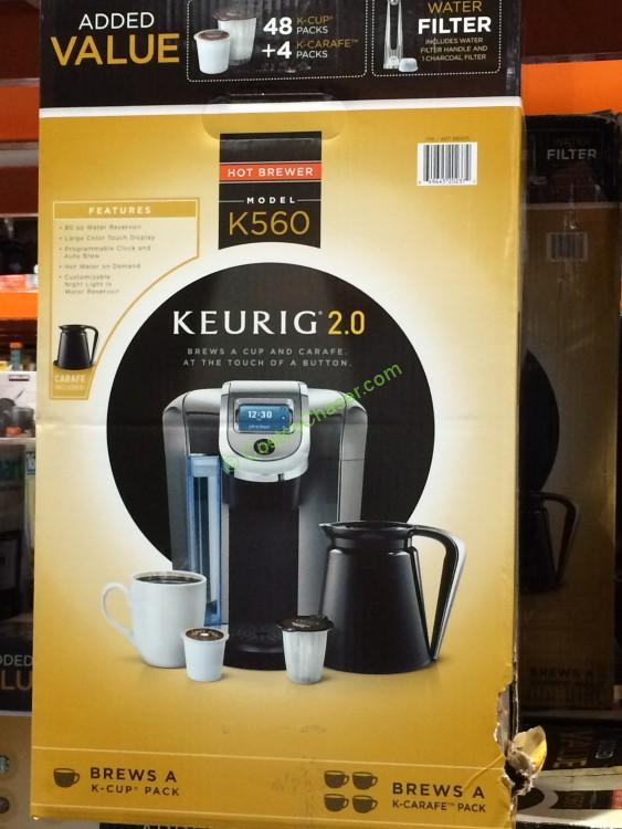 Keurig 2.0 K560 Brewer and Crafe with 48 K-Cup Pods and 4 K-Carafe Pods