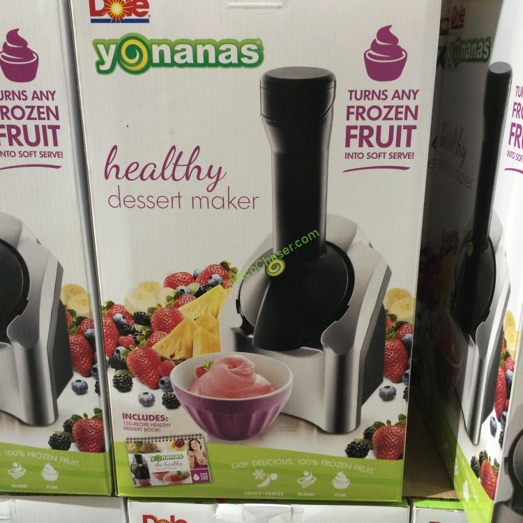 Yonanas Frozen Healthy Frozen Dessert Maker with Recipe book