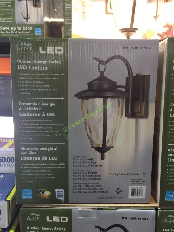 Altair Outdoor Saving LED Lantern with Oil Rubbed, Bronze Finish