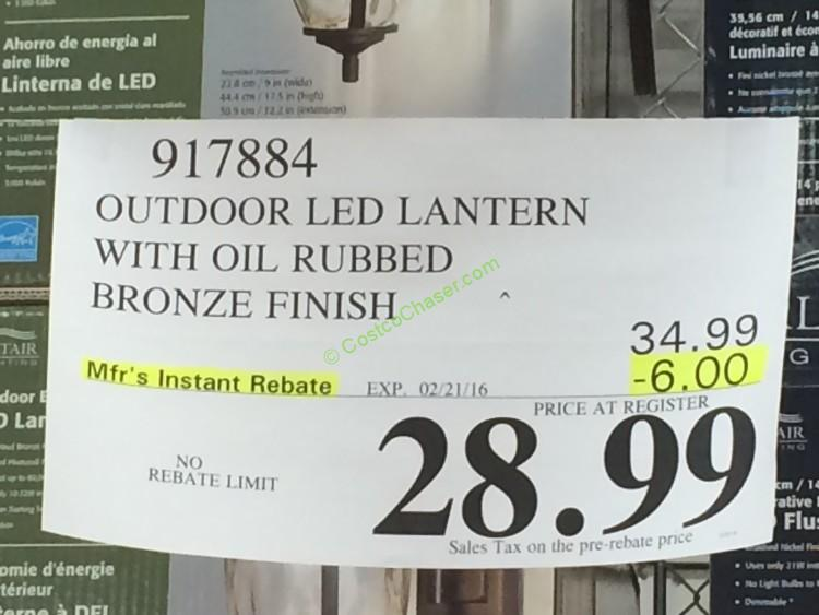 costco-917884-outdoor-led-lantern-with-oil-rubbed-bronze-finish-tag u2013 CostcoChaser