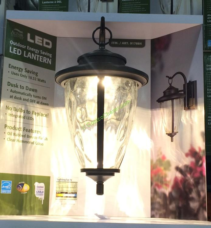 costco-917884-outdoor-led-lantern-with-oil-rubbed- - Altair Outdoor Saving LED Lantern With Oil Rubbed, Bronze Finish