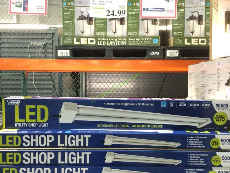 4 ft. LED Shop Light Pull Chain On/Off 3700 Lumens