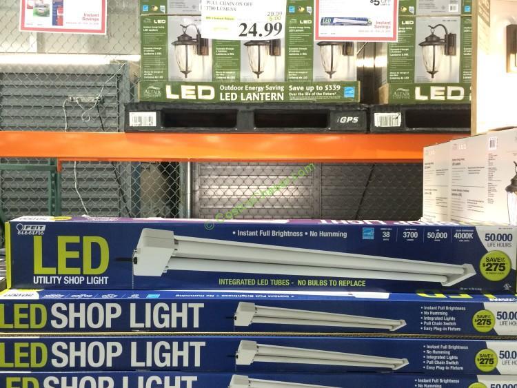 4 ft. LED Shop Light Pull Chain On/Off 3700 Lumens