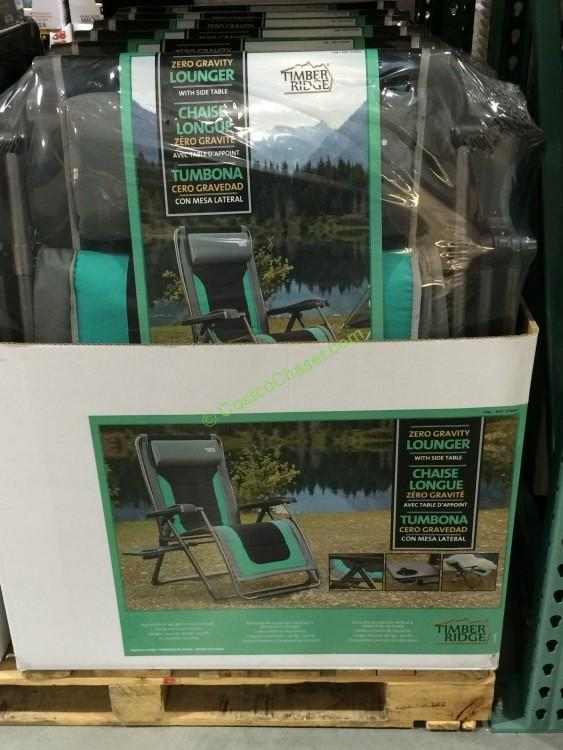 costco timber ridge zero gravity chair with side table all – CostcoChaser
