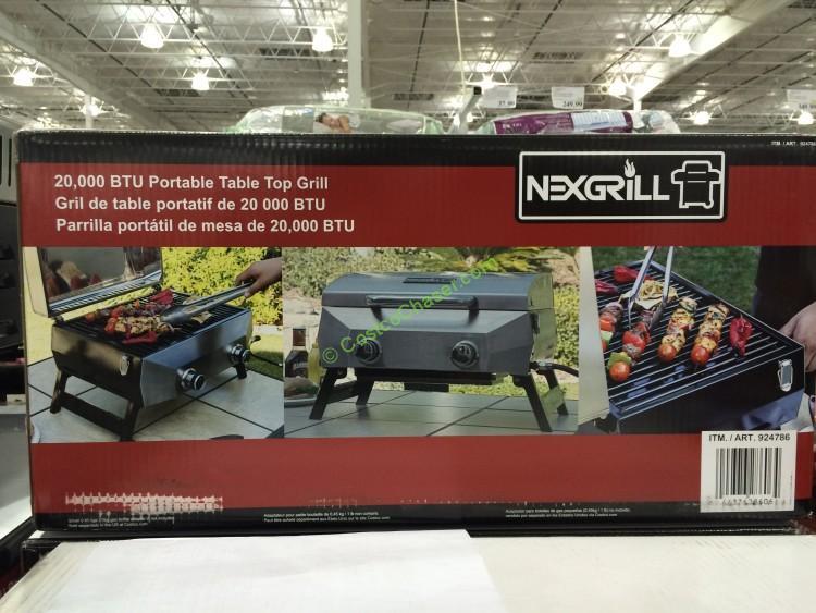 Nexgrill 19 Table Top Gas Bbq 20 000 Total Btu Costcochaser
