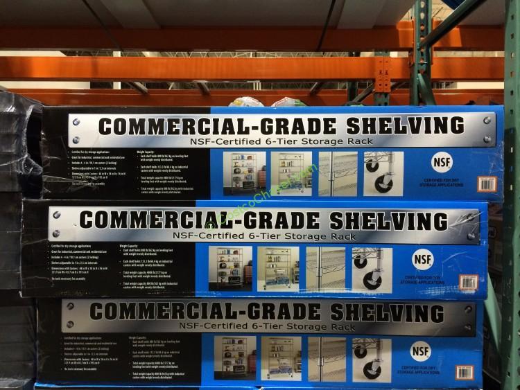 Costco 925395 Nsf 6tier Commercial Grade Shelf All