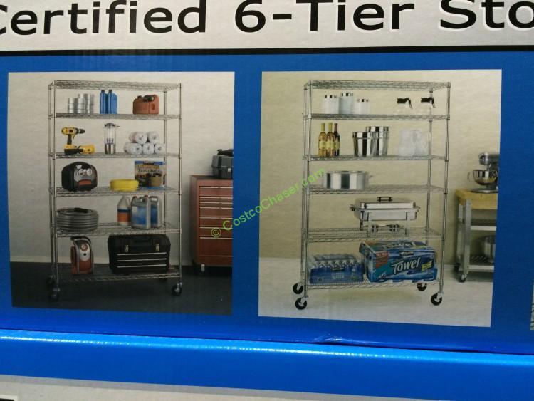 Costco 925395 Nsf 6tier Commercial Grade Shelf Box
