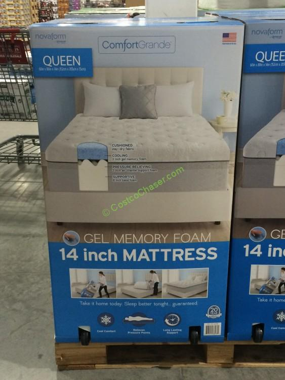 novaform mattress costco. costco-956398-novaform-comfort-grande-queen-mattressgel-memory- novaform mattress costco