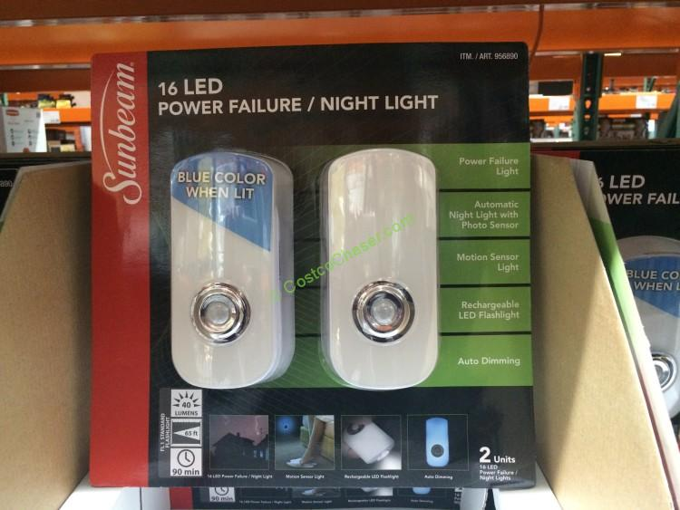 Sunbeam 2pk Power Failure Night Light Costcochaser
