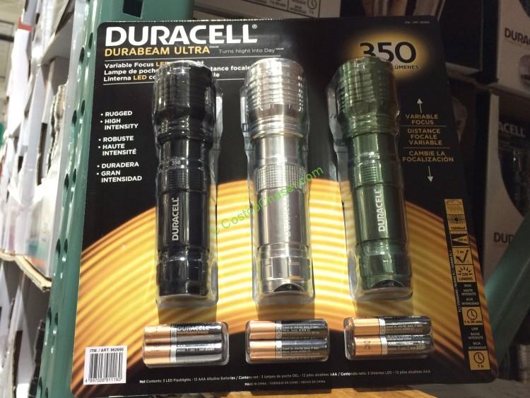 Duracell 3-pack LED Flashlight 350 Lumens