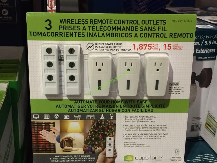 Capstone Wireless Remote Controlled Outlets 3 Pack