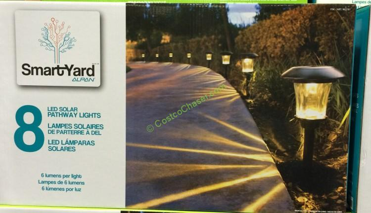 "Smartyard Solar LED 13.8""H Pathway Lights 8-pack"