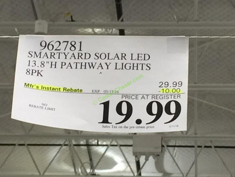 costco-962781-Smartyard-Solar-LED-13.8-H-Pathway-Lights-8-pack-tag