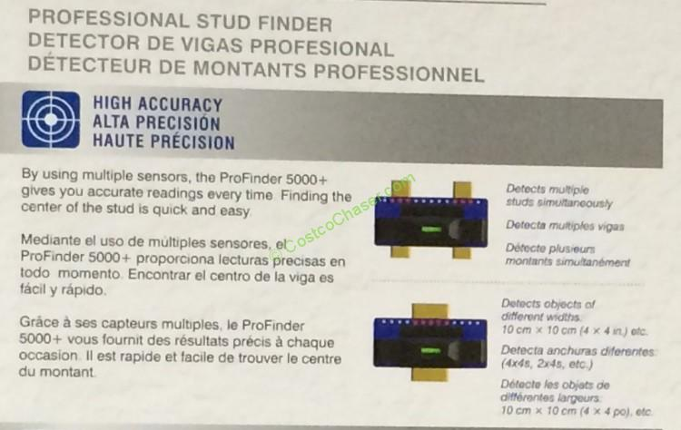 Costco 962795 Precision Sensors Professional Stud Finder