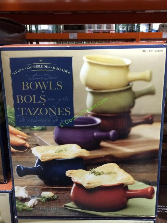 6PC Ceramic Soup Bowl Set