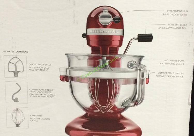 Costco 972498 KitchenAid 6 Qt Mixer Spec