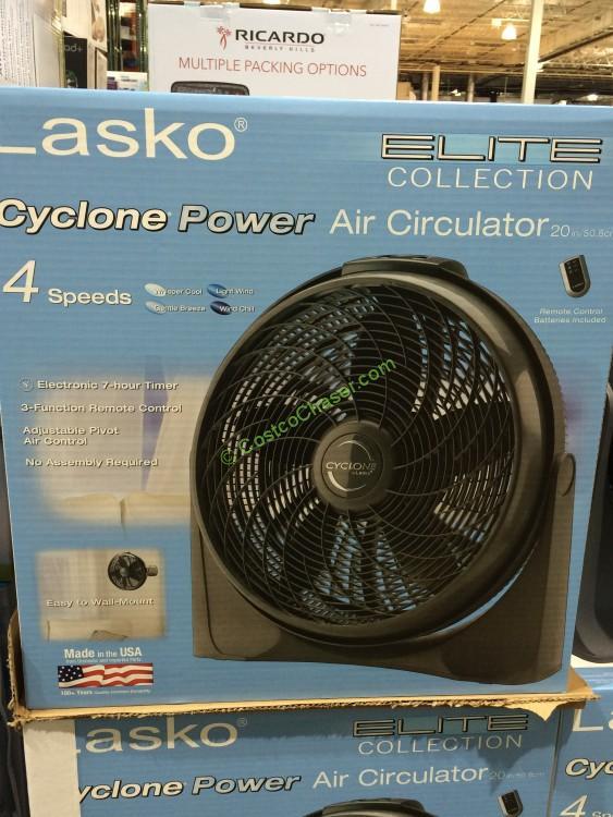 Lasko Elite Collection Cyclone Fan Remote Costcochaser