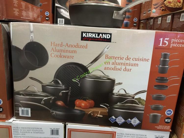 Kirkland New Signature Hard-Anodized Aluminum Cookware 15 Piece SetBrand NEW