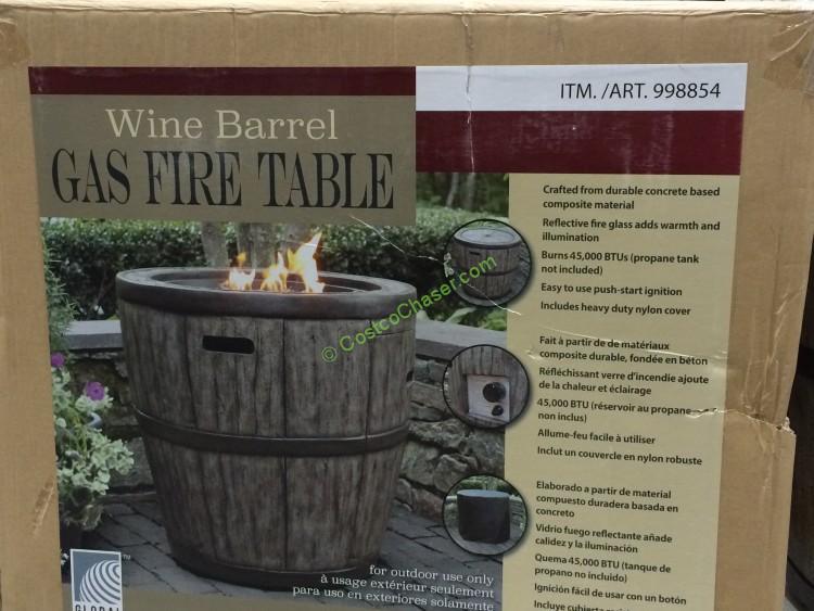 Global Outdoors 27″ Wine Barrel Fire Table - CostcoChaser on Costco Outdoor Fire id=73168