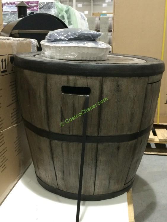 Global Outdoors 27 Wine Barrel Fire Table Costcochaser
