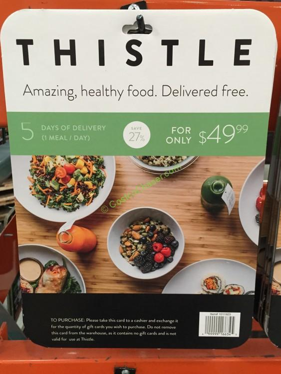 Thistle 5-Day-1 Meal Delivery $69.00 Value for $49.99 only