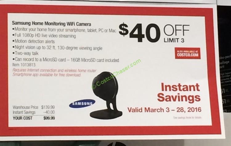 Costco 1013813 Samsung Smartcam 1080p Hd Home Camera Coupon