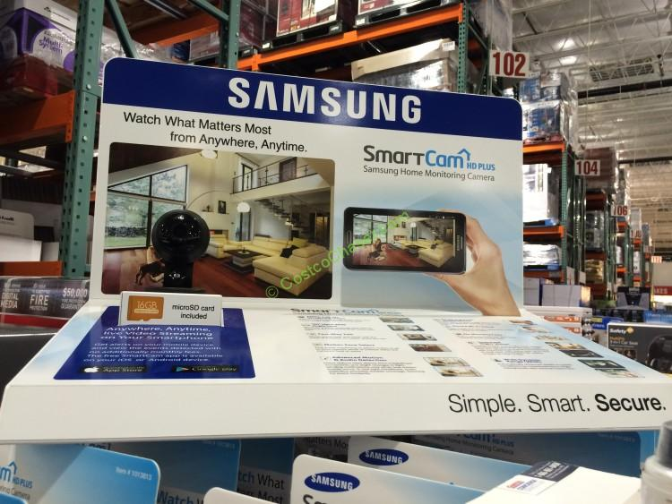 Samsung SmartCam HD Plus 1080p Wi-Fi IP Monitoring Camera Bundle SNH-V6414BN