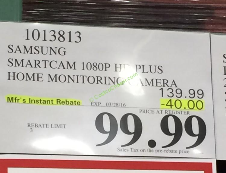 Costco 1013813 Samsung Smartcam 1080p Hd Home Camera Tag Costcochaser